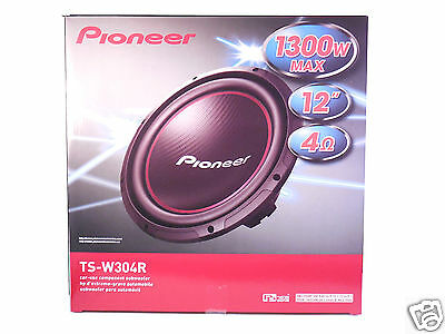 New! Pioneer TS-W304R 12-Inch 4 ohm 2 Car Audio Subwoofer 1300 Watts Max Power