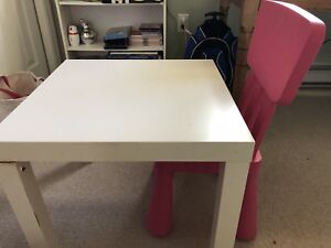 Kids Ikea Table and pink chair - gently used. Smoke free home