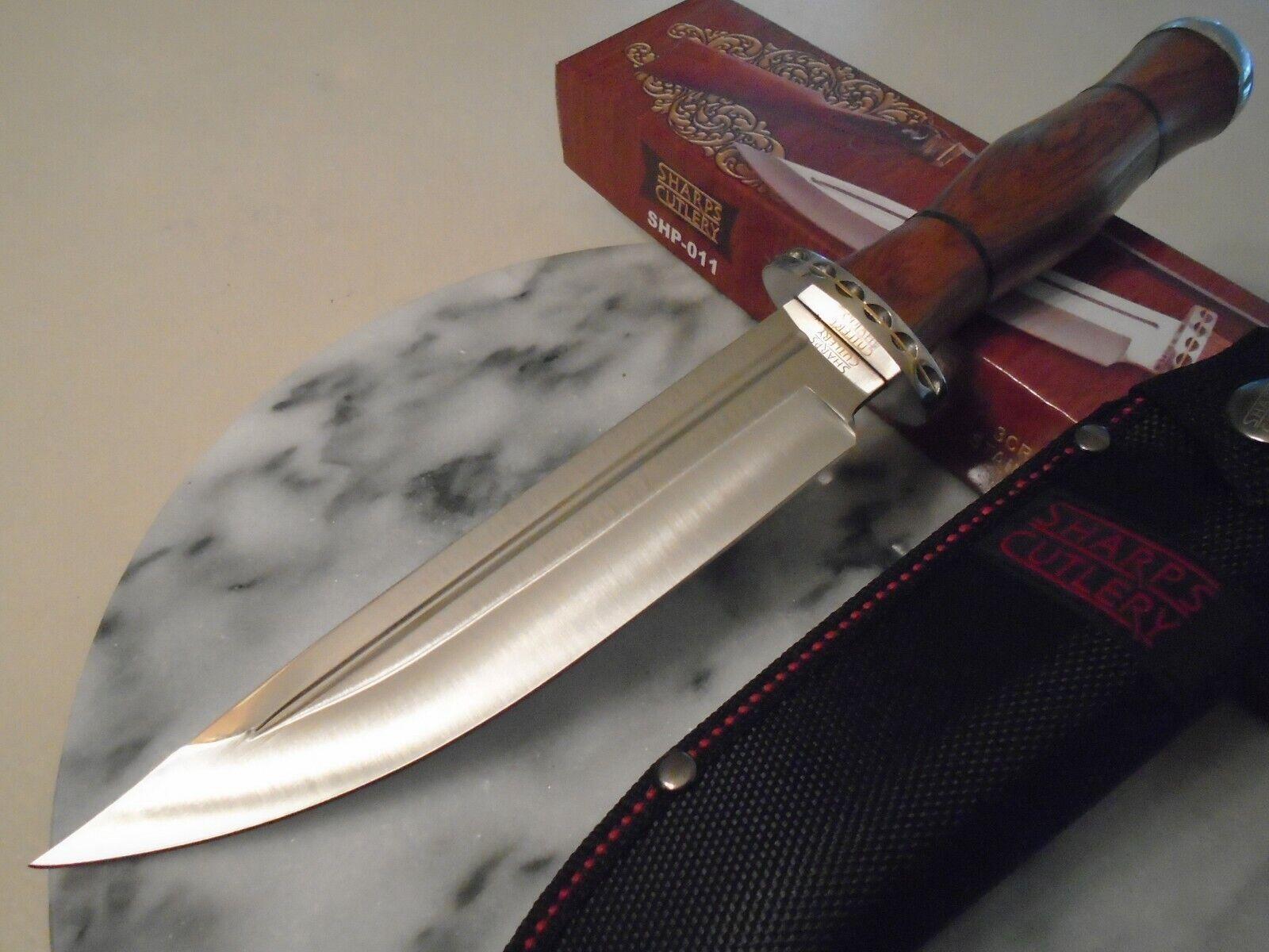 Sharps Cutlery Fancy Bowie Hunter Dagger Knife File Work 3Cr