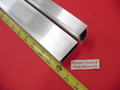 2 Pieces 1x 2x 18 Wall Aluminum Rectangle Tube 6063 T52 X 24 Long
