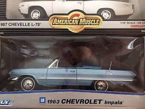 Two 1963 Impala convertible die cast