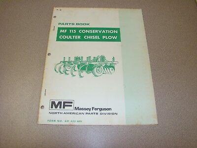 Original Massey Ferguson Mf 115 Conservation Coulter Chisel Plow Parts Book