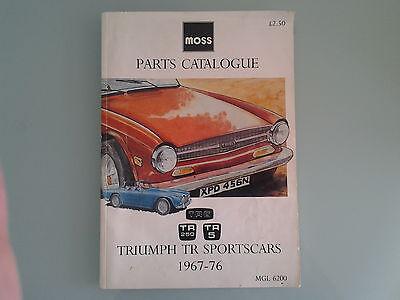 MOSS TRIUMPH TR SPORTSCARS 1967-1976 PARTS CATALOGUE