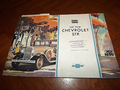 RARE 1930 Chevy Chevrolet Six Brochure Original Vintage LOOK 16 Page full color