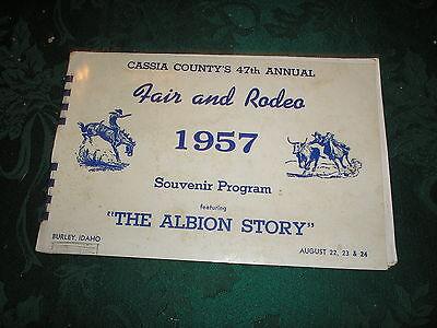 Cassia County's 47th Annual Fair & Rodeo Program 1957