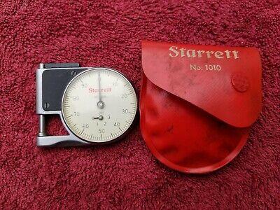 Starrett Machinist Pocket Dial Gage Caliper No 1010