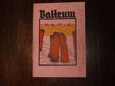 altes Prospekt/Heft Baltrum von Professor Peter Ihlmann 1938 21x15cm