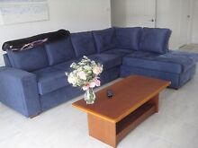 Lounge 5 seater Blue Suede look excellent condition Glen Innes Glen Innes Area Preview