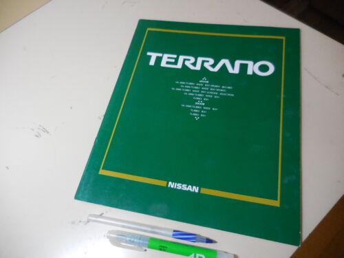 Nissan TERRANO Japanese Brochure 1993/10 D21 VG30E TD27T Pathfinfer