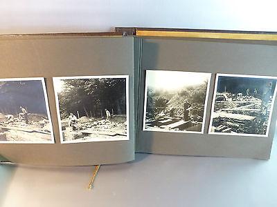 50 Fotos als Dokumentation über einen Hausbau um 1920 im Album