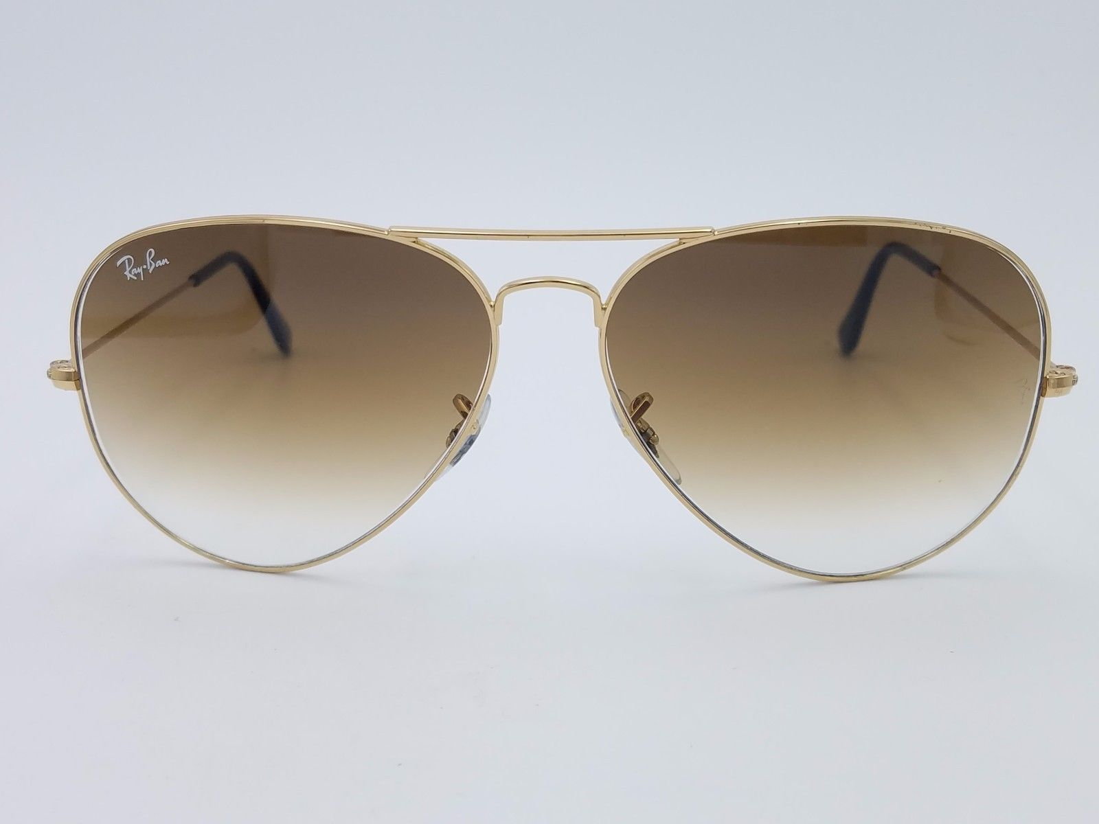 e2e0f949ba1b4 Ray-Ban RB3025 001 3F 55 mm Gold Blue Metal Aviator Sunglasses   eBay
