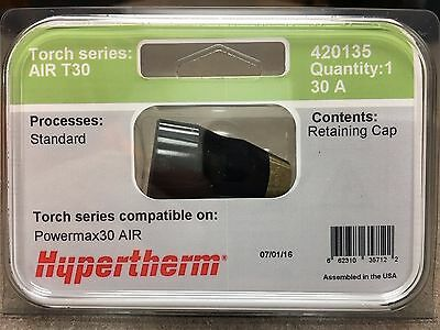 Genuine Hypertherm 420135 Air T30 Retaining Cap 30a Powermax 30 Plasma