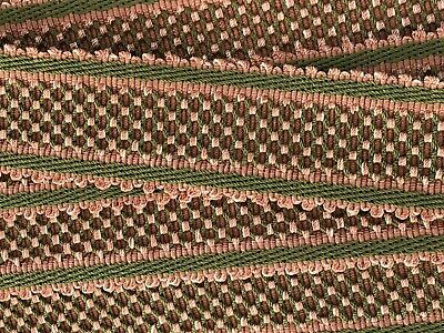 HOULES PASSEMENTERIE Lattice Trim Tape from France Pink & Green #9440