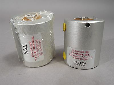 Lot Of 2 Compact Air Ar34x34 Compact Pneumatic Cylinders - New