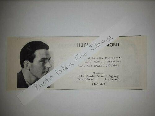 Hugh Beaumont Original 1940s actors casting ad Leave it to Beaver father