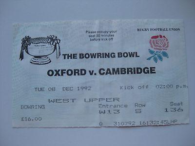 OXFORD V CAMBRIDGE  08/12/1992 USED TICKET