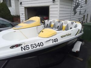 For sale 2005 seadoo boat sportster come with the traler