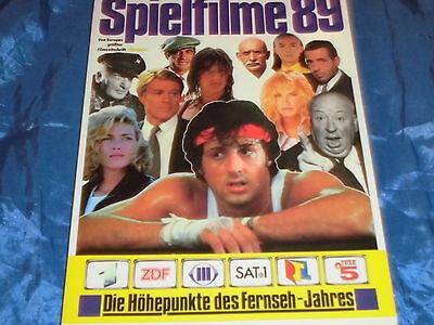 cinema Film Buch , Spielfilme , Fernsehen 1989 , KULT , S.Stallone , ... , ovp.