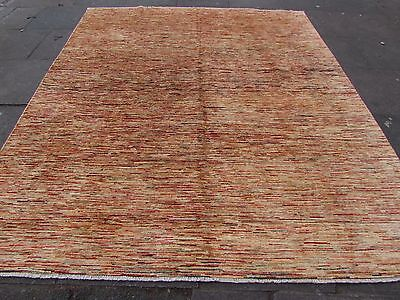 Traditional Hand Made Afghan Gabbeh Wool Gold Stripy Modern Carpet 288x245cm for sale  Shipping to Ireland