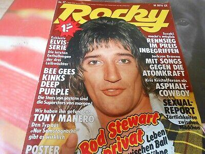 Rocky Nr. 37 vom 7.9.1978 - Rod Stewart - ELVIS - BEE GEES - Kings Rocky 7
