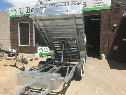 12x7 Flat top Tandem Hydraulic Tipper Trailer  3500kg ATM, Ramps Seaford Frankston Area Preview