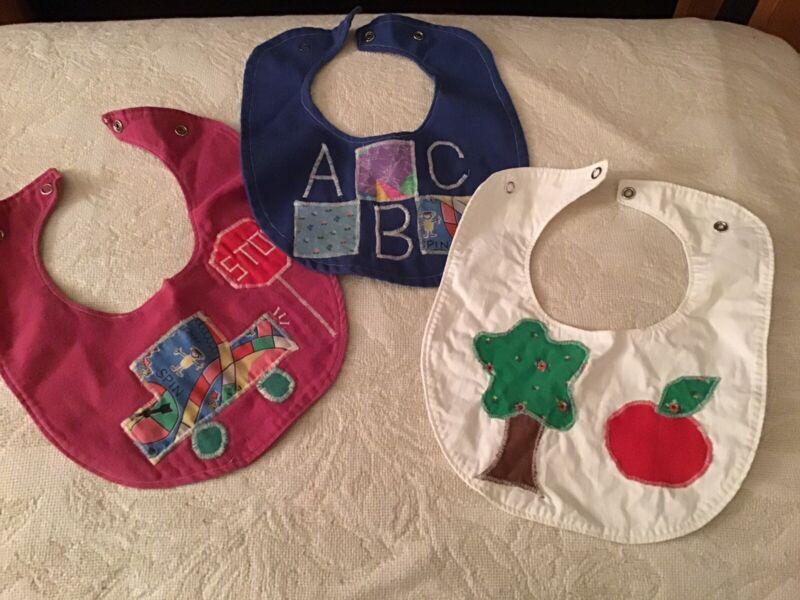 Handmade vintage baby bibs