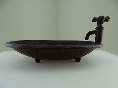 Seifenschale Badewanne braun rustikal Eisen Schwammablage für Küche & Bad ()