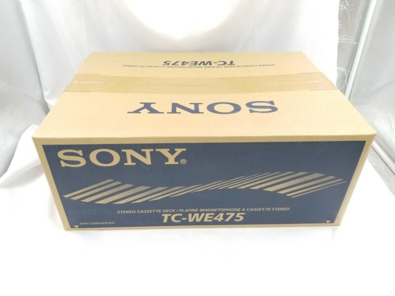 SONY Dual Cassette Deck TC-WE475 Player/Recorder NEW FACTORY SEALED