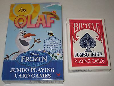 Disney Frozen Jumbo Playing Cards Im Olaf   Childrens Card Games  Magic Tricks
