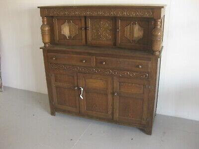 Old Wooden Antique Vintage Chest of Drawers Dresser Oak Mock Jacobian Cabinet