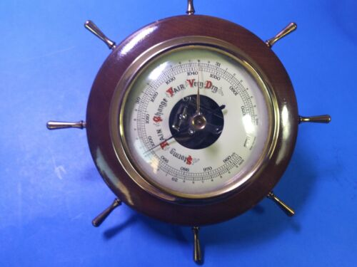 Vintage Hoffritz Ships Wheel Barometer Maritime Nautical Made in West Germany