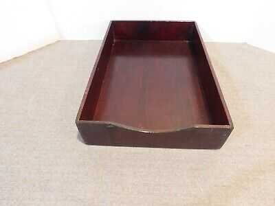 Vintage Wooden Desk Tray #1