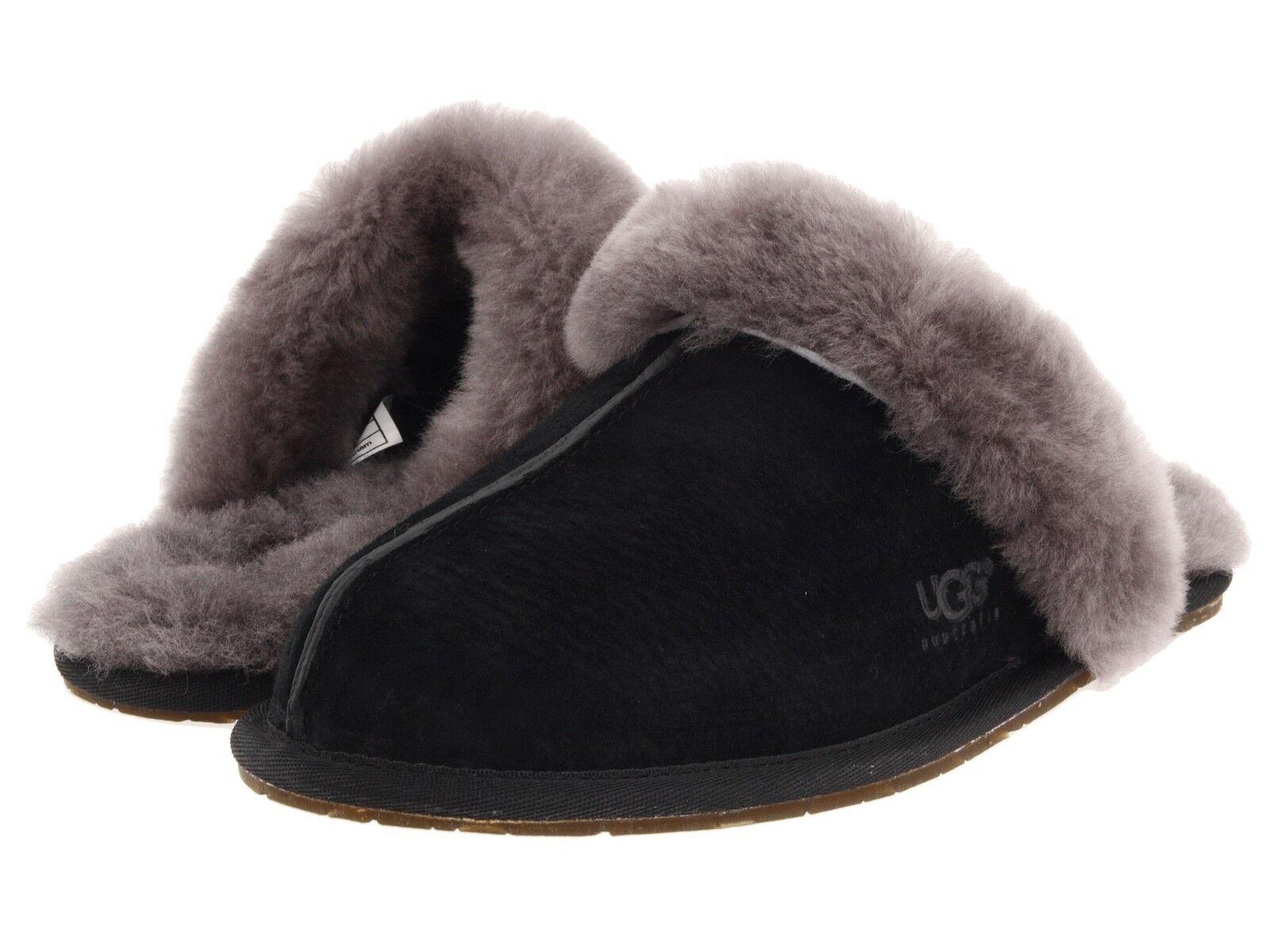 Women's Shoes UGG SCUFFETTE II Slippers 5661 BLACK GREY *New