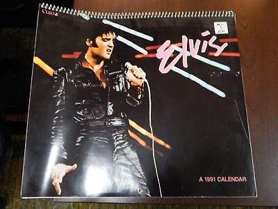 Vintage 1991 Elvis Calendar By Cleo