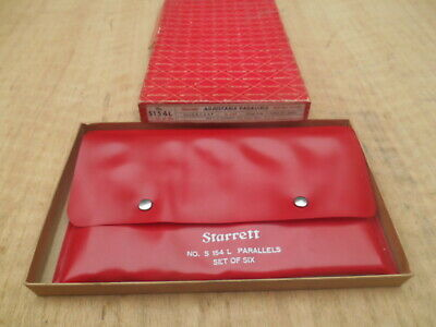 Starrett S154l Adjustable Parallels Set Of 6 With Box