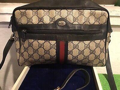 Vintage Gucci Accessory Collection Crossbody Shoulder Bag Purse Monogram