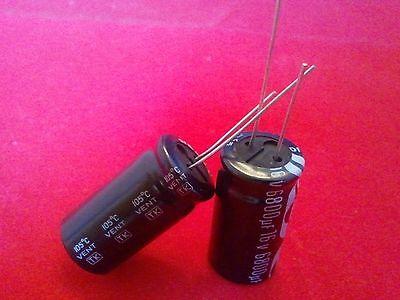 2 Pc 6800uf 6800mfd 16v Electrolytic Capacitor 105 Degrees Usa Free Shipping