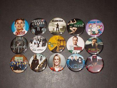 Popular Tv Show Buttons  Pins 15