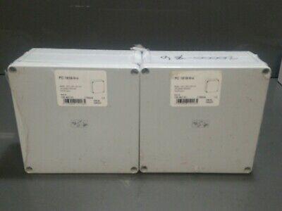 2 Pack Of Waterproof Ip66 Nema 4x Rated Box Diy Case Green Enclosure 7x7x3.5