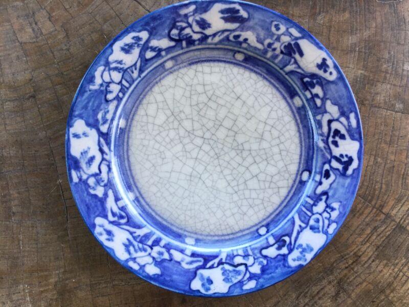 Dedham Art Pottery 8 1/2 Inch Breakfast Plate Snow Tree Pattern 1896-1928