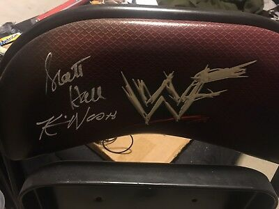 WWF WWE No Way Out 2002 Signed Chair Scott Hall Kevin Nash nWo Debut Milwaukee](No Way Out Sign)