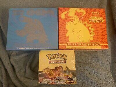 3 Box Lot - Pokemon Darkness Ablaze Boost, Evolutions & VividVolt Elite Trainer