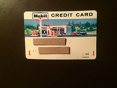 Mobil OIl Company 1960's Vintage Collectors Credit Card - Classic Graphics