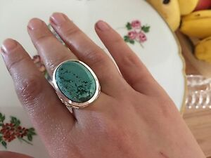 Beautiful natural, turquoise, and Stirling silver, new, ring. Rosewater Port Adelaide Area Preview