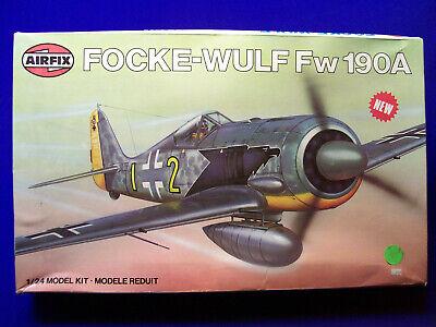NOS Airfix Focke-Wulf Fw 190A 1/24 Scale No. 16001-8 Box Open Bag Sealed England