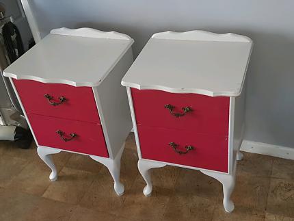 Kids bedside dressers and desk