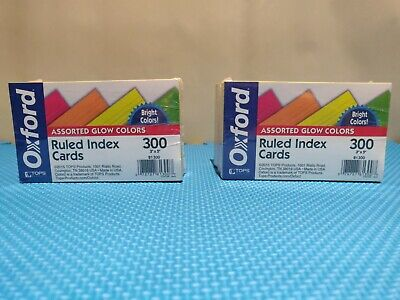 Oxford Ruled Index Cards Assorted Glow Colors 600ct
