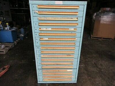Equipto 17 Drawer Cabinet W Misc Electrical