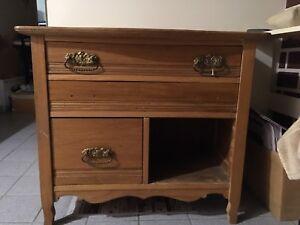 Antique dresser. Butternut wood