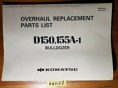 Komatsu D150 D155a-1 Bulldozer Overhaul Replacement Parts Manual Pefe2003 1287